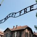 Auschwitz concentration camp entrance. Krakow area, Poland.