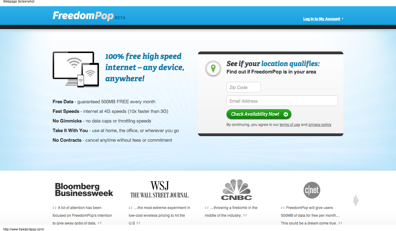 FreedomPop Is Giving Away Free Mobile Broadband! | OLAMI