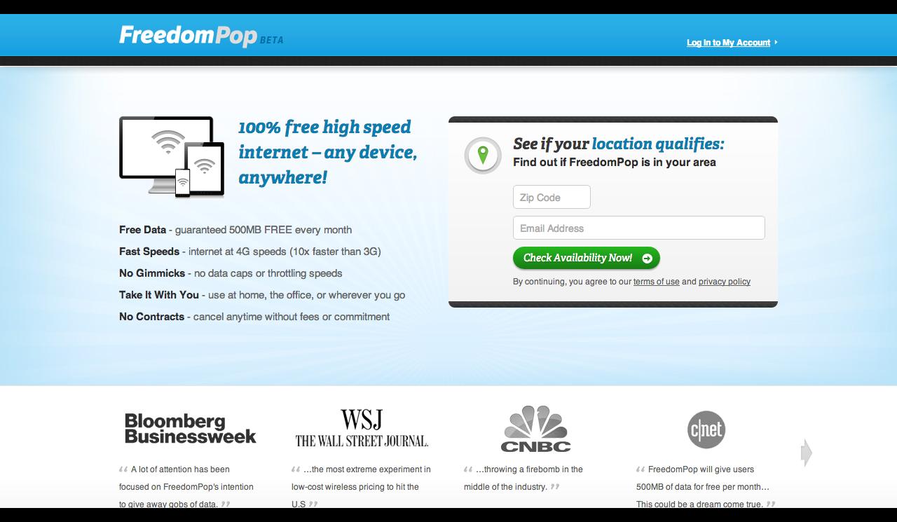 Free Wireless Internet   Free Internet   4G Wireless Internet - FreedomPop-182443