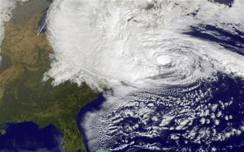 Hurrican Sandy from Space