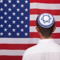 Jew Yarmulka American Flag