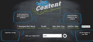 Content Idea Generator - Portent
